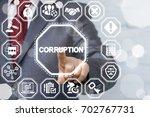 corruption bribery venality...   Shutterstock . vector #702767731