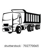 truck cargo vector. big truck... | Shutterstock .eps vector #702770065