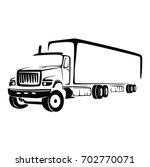 truck cargo vector. big truck... | Shutterstock .eps vector #702770071