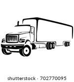 truck cargo vector. big truck... | Shutterstock .eps vector #702770095