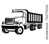 truck cargo vector. big truck... | Shutterstock .eps vector #702770101