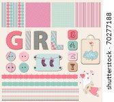 Scrapbook Baby Girl Set