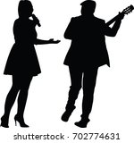 singer and guitarist | Shutterstock .eps vector #702774631