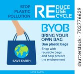 stop plastic pollution ban... | Shutterstock .eps vector #702776629