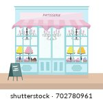 bakery store architectural... | Shutterstock .eps vector #702780961