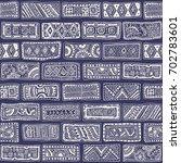 vector abstract seamless... | Shutterstock .eps vector #702783601