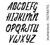vector alphabet. calligraphic... | Shutterstock .eps vector #702783751