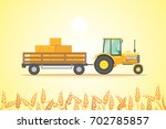 farm tractor icon vector... | Shutterstock .eps vector #702785857
