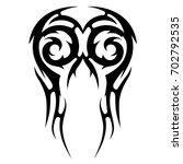 tattoo tribal vector design.... | Shutterstock .eps vector #702792535