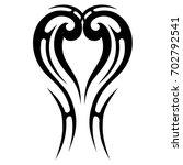 tattoo tribal vector design.... | Shutterstock .eps vector #702792541