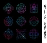 sacred geometry symbol with... | Shutterstock .eps vector #702794935
