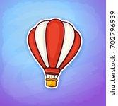 vector illustration. hot air... | Shutterstock .eps vector #702796939