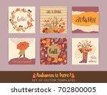 set of autumn templates. vector ... | Shutterstock .eps vector #702800005