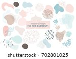 set of vector abstract brush... | Shutterstock .eps vector #702801025