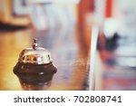 hotel reception  check in desk... | Shutterstock . vector #702808741