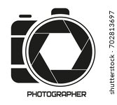 logo for a photographer. camera ... | Shutterstock .eps vector #702813697