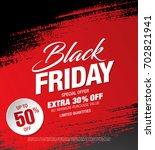 black friday sale banner | Shutterstock .eps vector #702821941