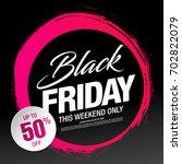 black friday sale banner | Shutterstock .eps vector #702822079