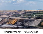 Small photo of Garzweiler opencast mining lignite, North Rhine-Westphalia, Germany, controversial energy production, the surface mine arouses protest among residents and environmental protection
