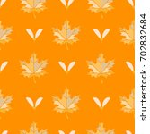 seamless light color maple leaf ... | Shutterstock .eps vector #702832684