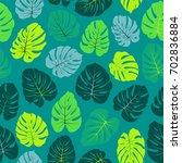sea green vector tropical... | Shutterstock .eps vector #702836884