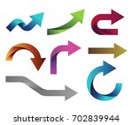 arrow collection set vector  | Shutterstock .eps vector #702839944