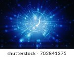 2d illustration technology... | Shutterstock . vector #702841375