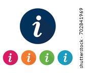 info icon. information symbol... | Shutterstock .eps vector #702841969