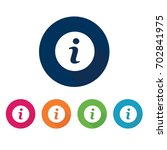 info icon. information symbol.... | Shutterstock .eps vector #702841975