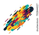 colorful abstract line on white ... | Shutterstock .eps vector #702844027