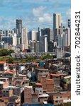 social inequality in salvador...   Shutterstock . vector #702844231