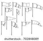 flag illustration  drawing ... | Shutterstock .eps vector #702848089