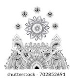 mandala decorative round... | Shutterstock .eps vector #702852691