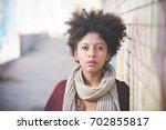portrait of young beautiful... | Shutterstock . vector #702855817