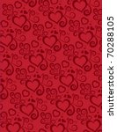 background with heart design   Shutterstock .eps vector #70288105