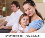 young mother with a little... | Shutterstock . vector #70288216