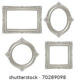 Silver Frame. Vector.