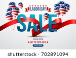 labor day sale promotion... | Shutterstock .eps vector #702891094