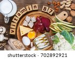 foods rich in vitamin b7 ... | Shutterstock . vector #702892921