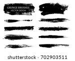 vector paint brush strokes...   Shutterstock .eps vector #702903511