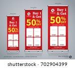 roll up big sale banner... | Shutterstock .eps vector #702904399