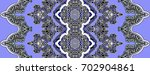 blue indian paisley ornament | Shutterstock . vector #702904861