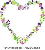 floral heart | Shutterstock .eps vector #702905665
