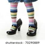 Toddler Girl Wearing Bright...