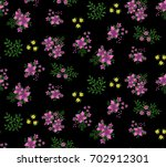floral seamless pattern of... | Shutterstock .eps vector #702912301