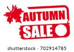 autumn sale rubber stamp vector ... | Shutterstock .eps vector #702914785