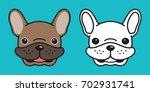 dog icon vector french bulldog. ...   Shutterstock .eps vector #702931741