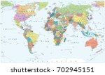 Political World Map   Borders ...