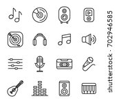 music and sound icons set... | Shutterstock .eps vector #702946585