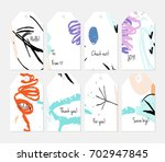 hand drawn creative tags.... | Shutterstock .eps vector #702947845